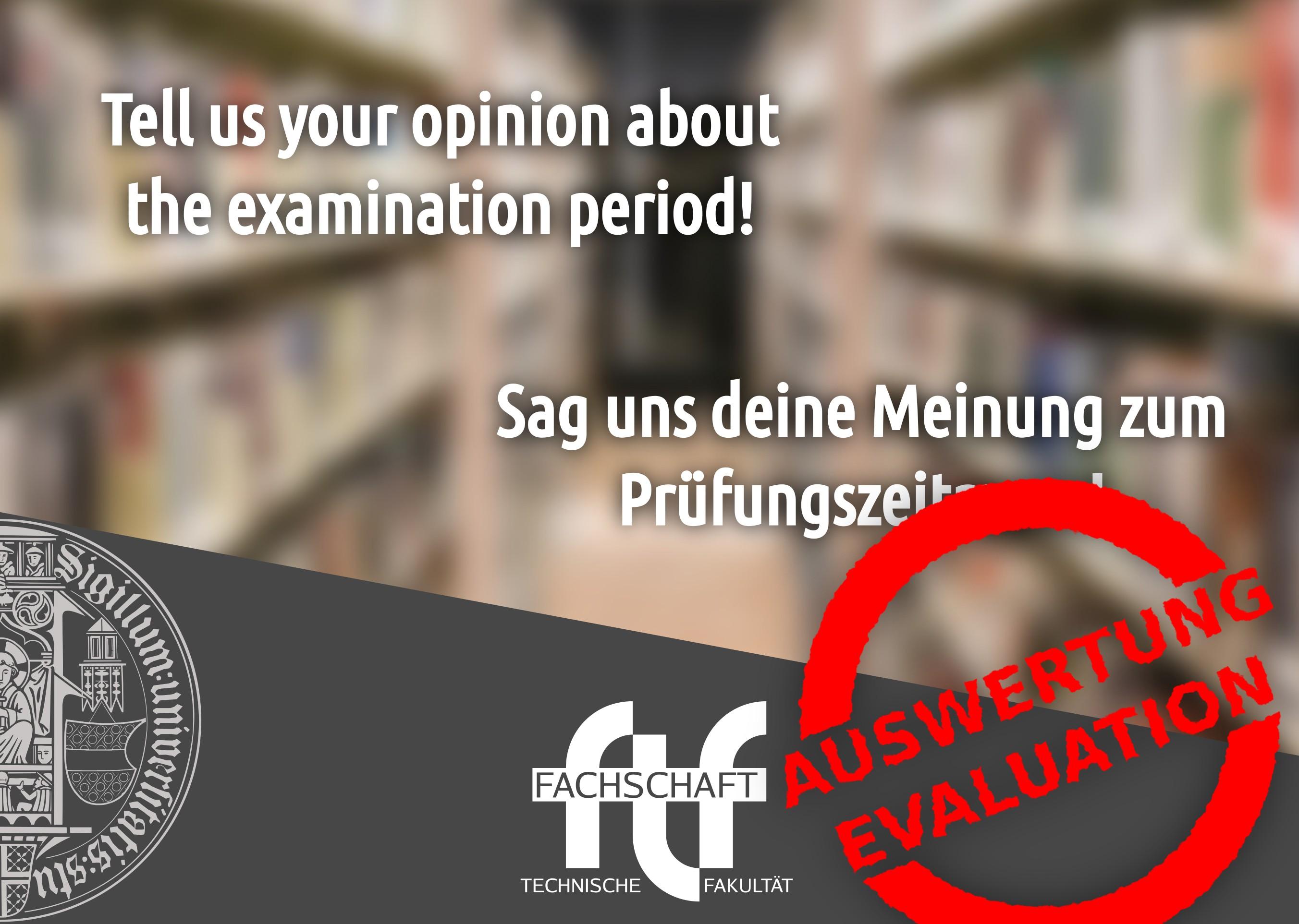 Sag uns deine Meinung zum Prüfungszeitraum - Auswertung
