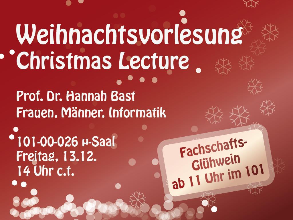 Weihnachtsvorlesung 2013