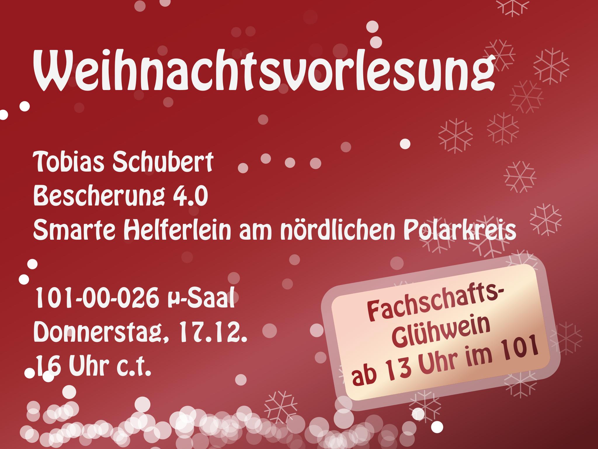 Weihnachtsvorlesung Bescherung 4.0 - Smarte Helferlein am nördlichen Polarkreis